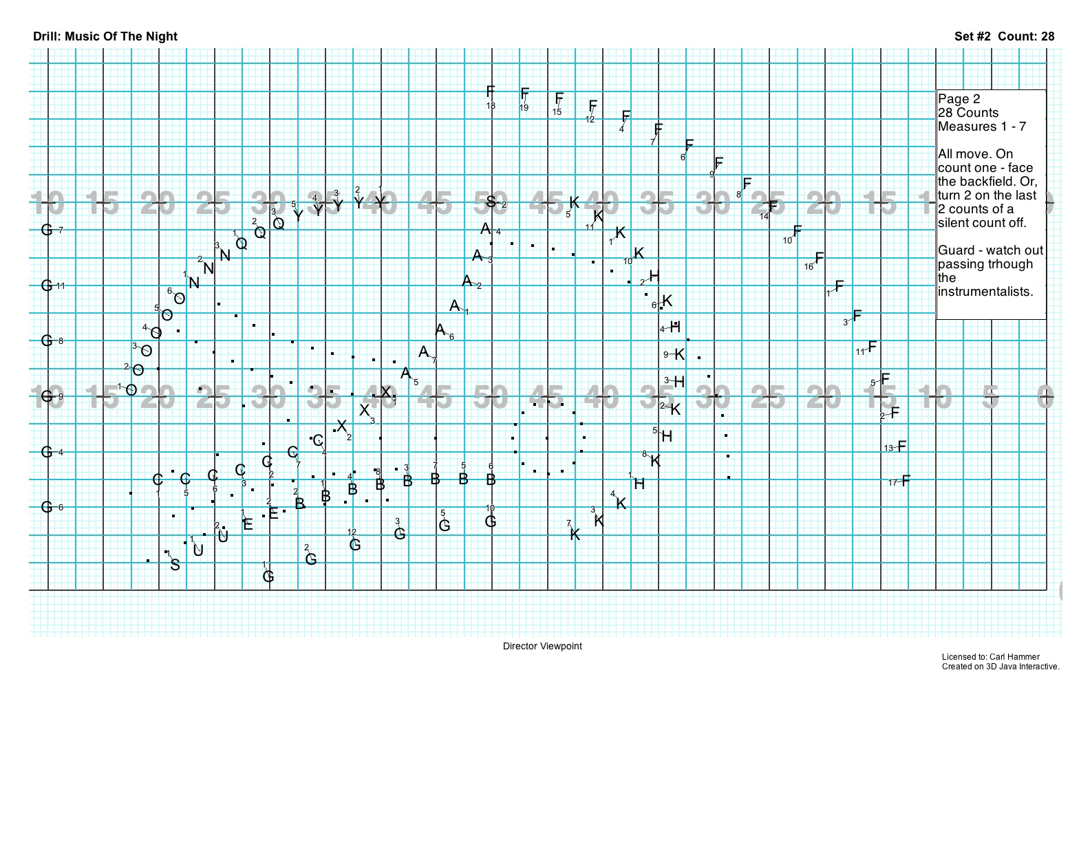 Carl Hammer Marching Band Drill Design